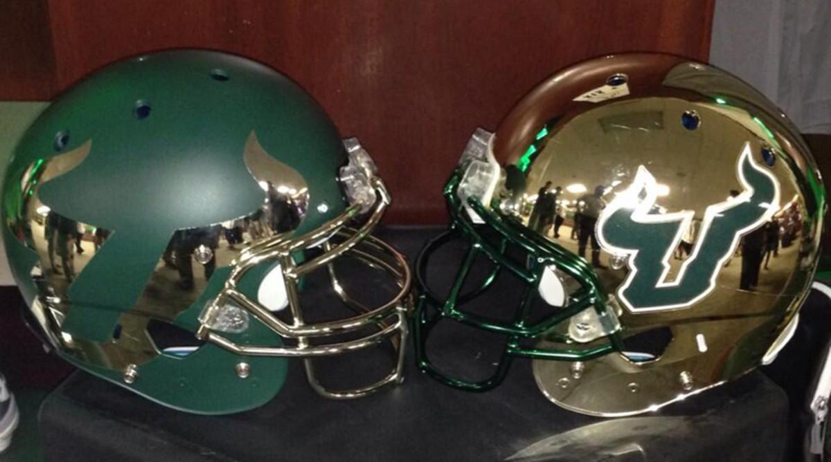 South Florida chrome helmet