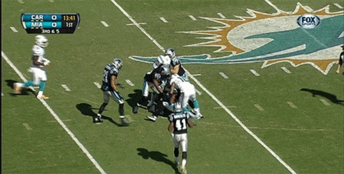 Panthers Intercept Tannehill After Tip