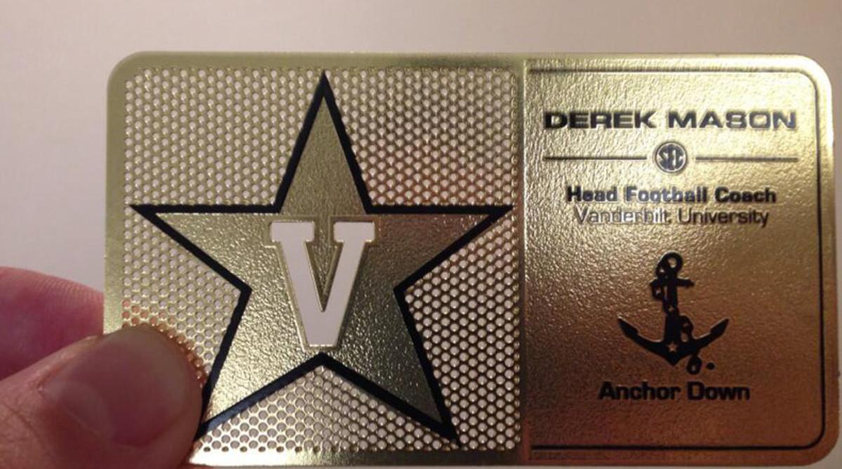 Derek Mason business card