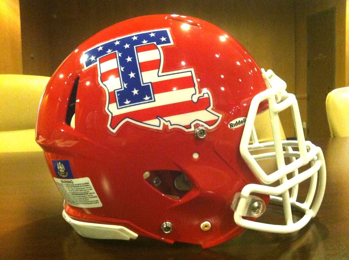 Louisiana Tech's Patriotic Helmet