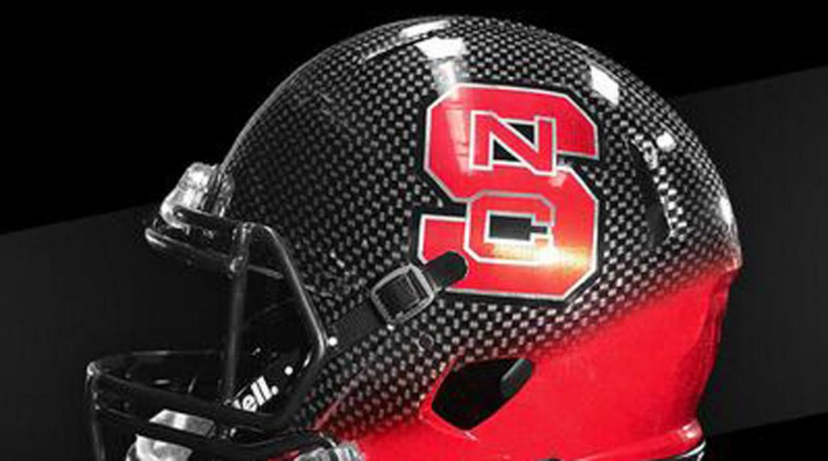 NC State new black helmet