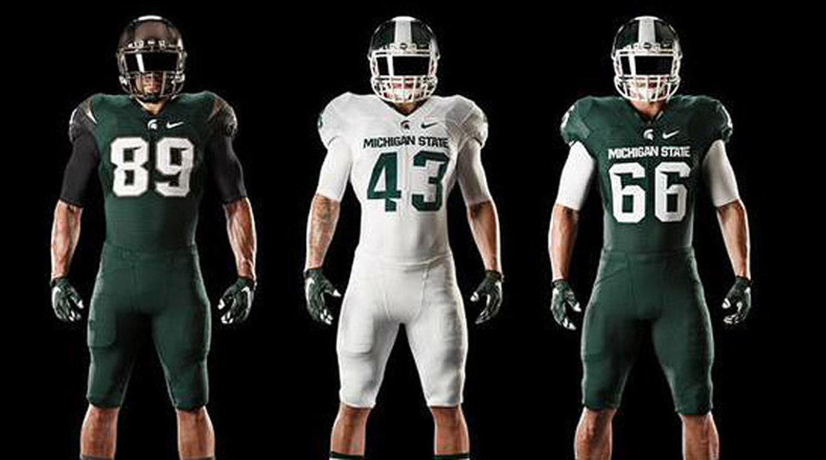 Michigan State Spartans uniforms