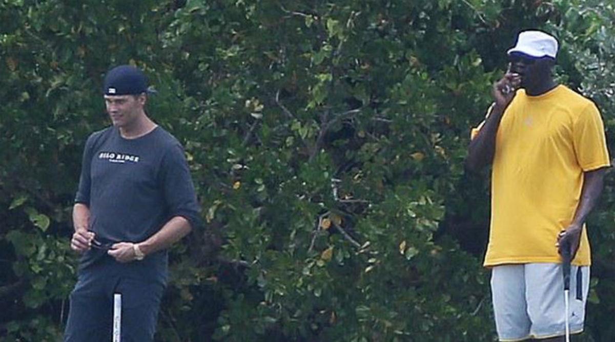 Tom Brady Plays Golf With Michael Jordan