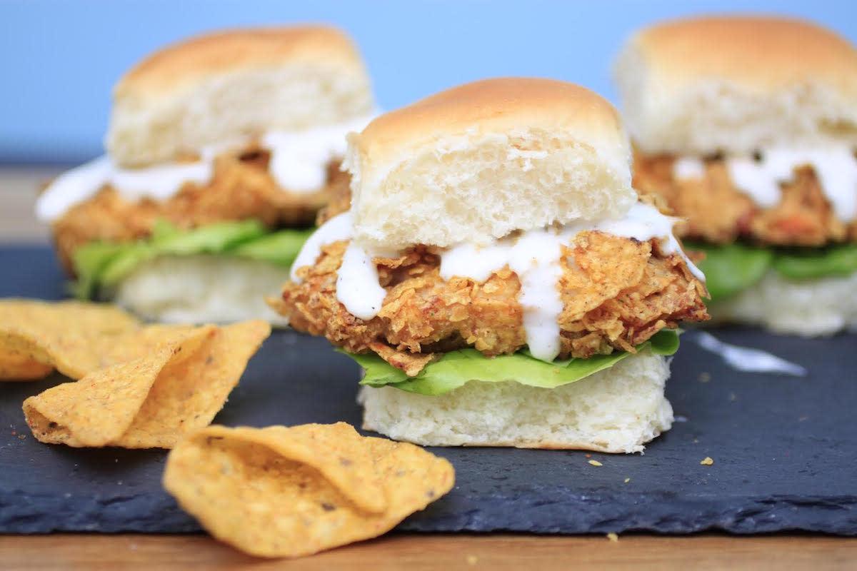 Doritos-Crusted Chicken Sliders recipe
