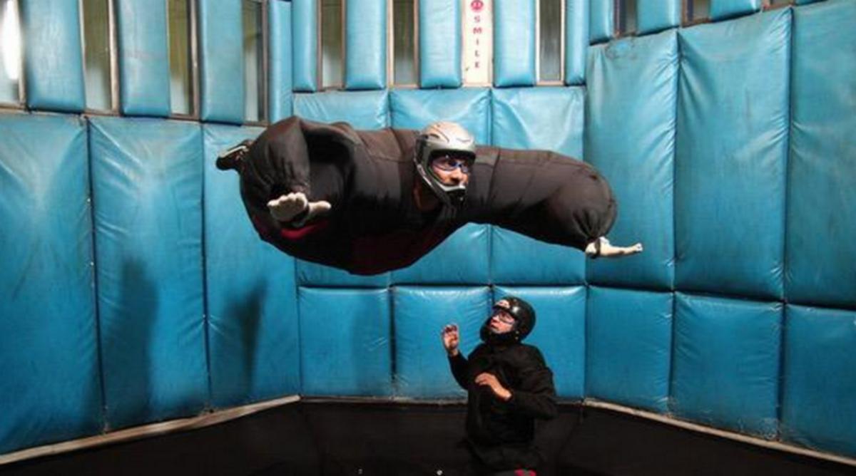 Tim Duncan Goes Indoor Skydiving