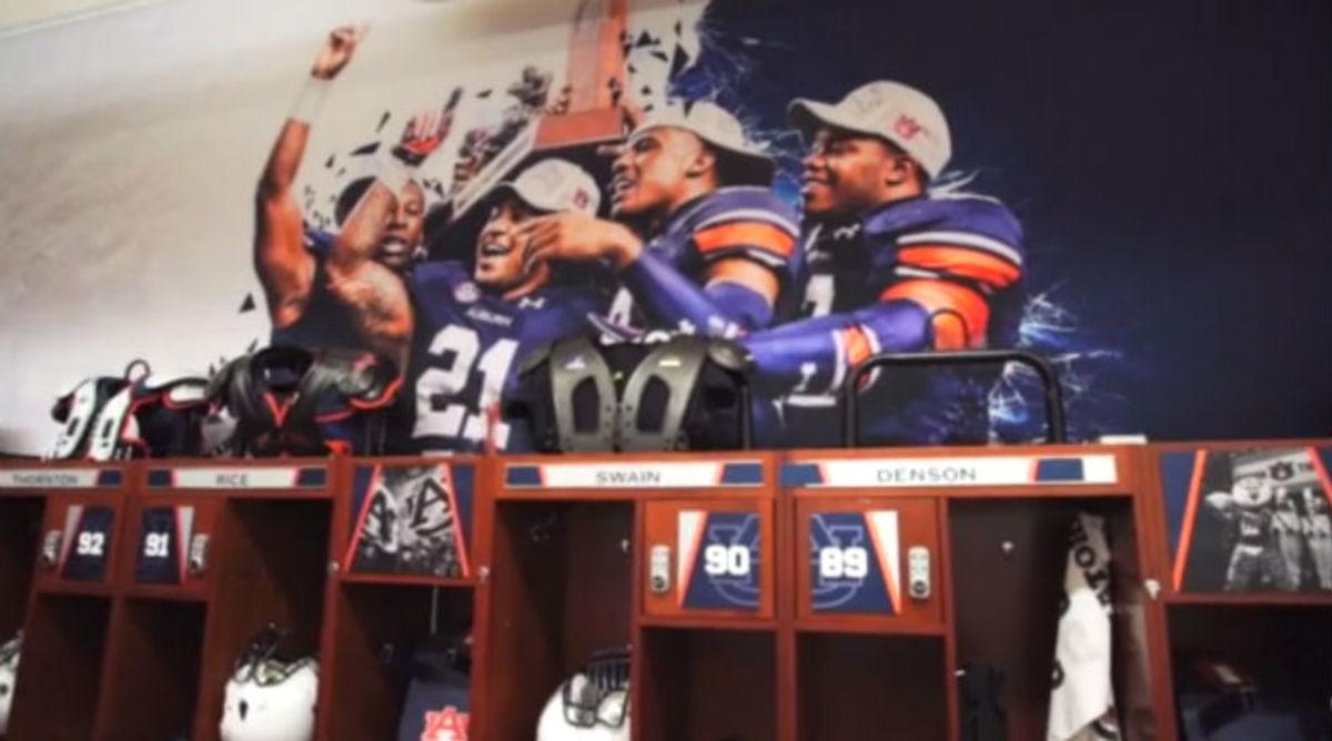 Auburn's Locker Room Gets Sweet Renovation