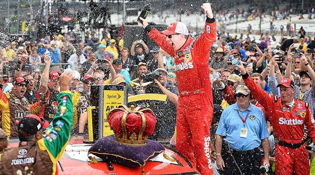 Kyle Busch No. 18 Crown Royal Presents the Jeff Kyle 400 at the Brickyard at Indianapolis Motor Speedway