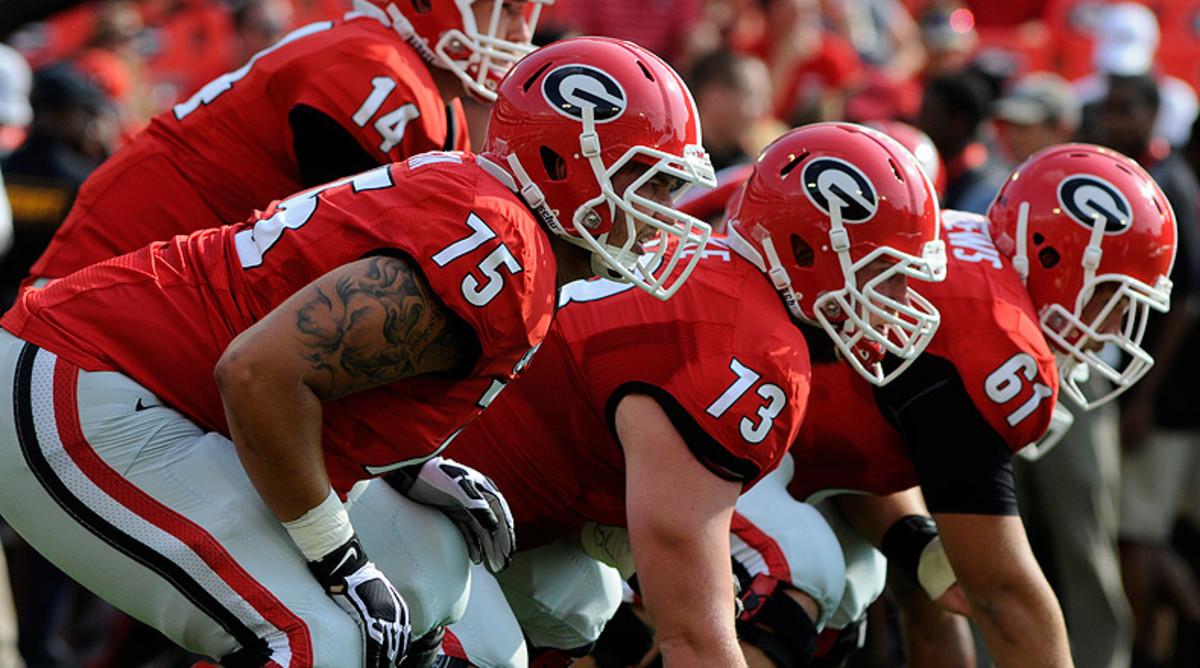 Georgia Bulldogs offensive line
