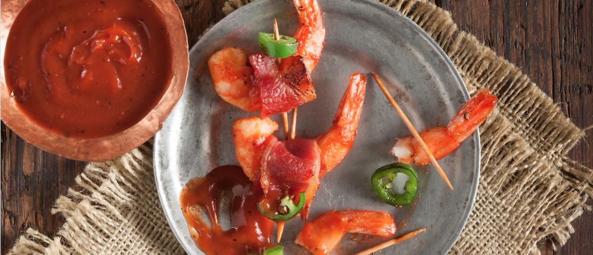 Eat Like a Fan: BBQ Bacon-Wrapped Jumbo Shrimp Recipe