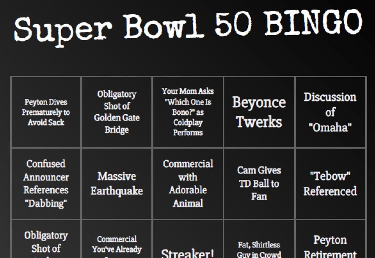 Super Bowl 50 BINGO
