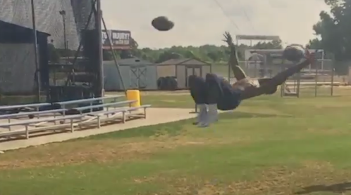 North Carolina A&T's Tarik Cohen Catches Two Footballs While Doing a Backflip
