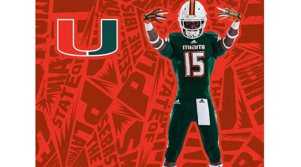 Miami Hurricanes 2015 new uniforms