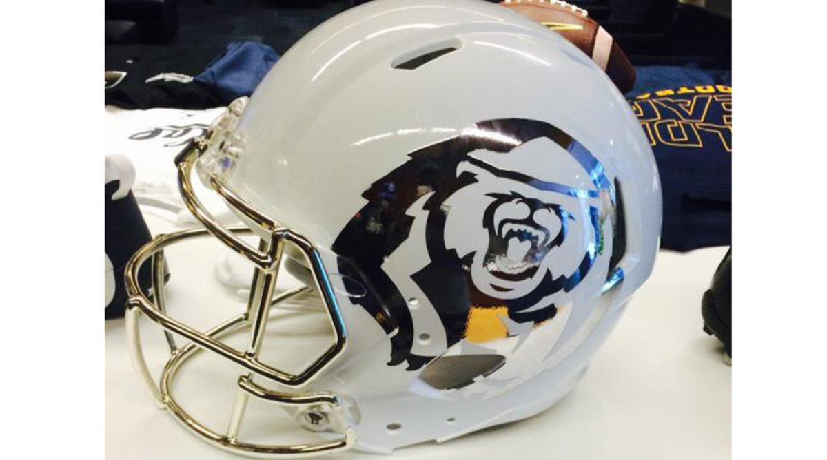 California Golden Bears white helmet