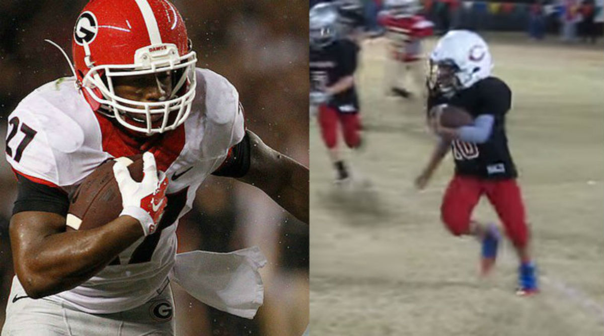 Nick Chubb's Nine-Year-Old Cousin Drawing Attention From Georgia