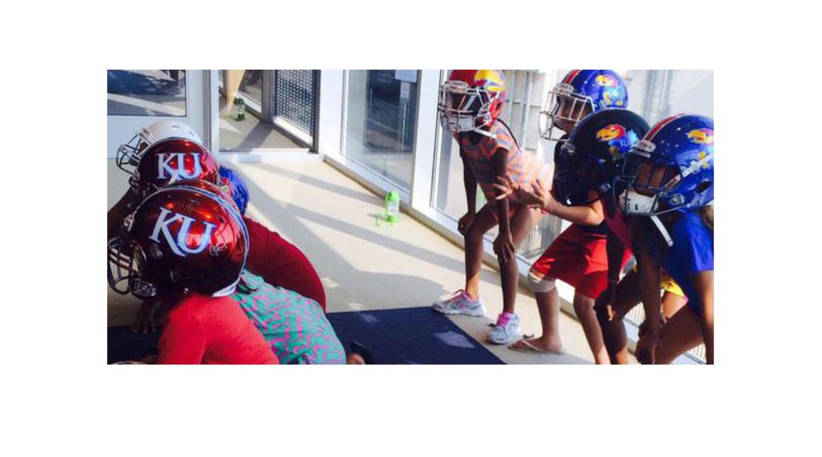Kansas Jayhawks new helmets 2015