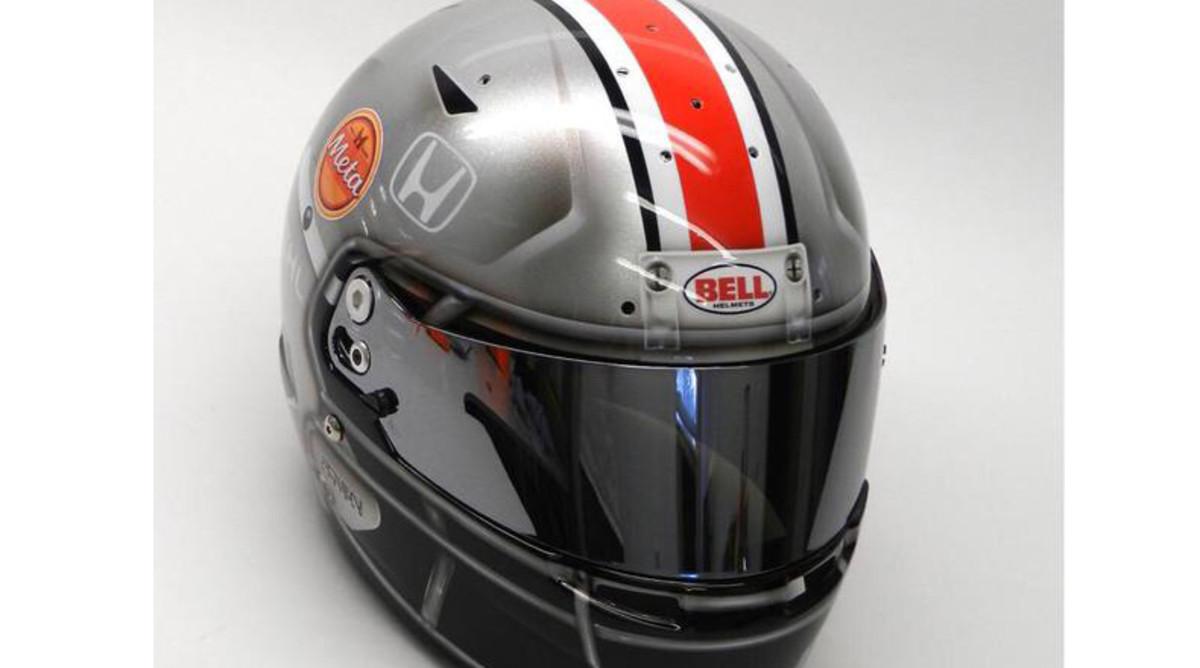 Graham Rahal helmet