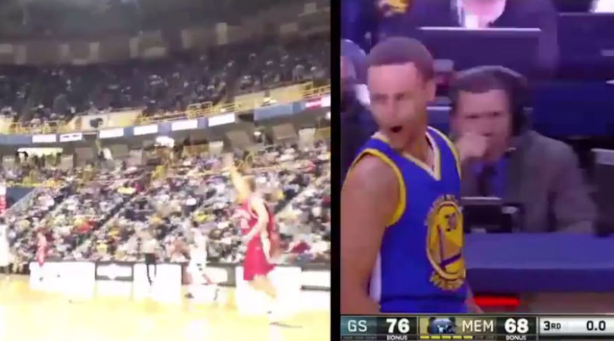 Davidson Wishes Steph Curry Good Luck with Awesome Throwback Video