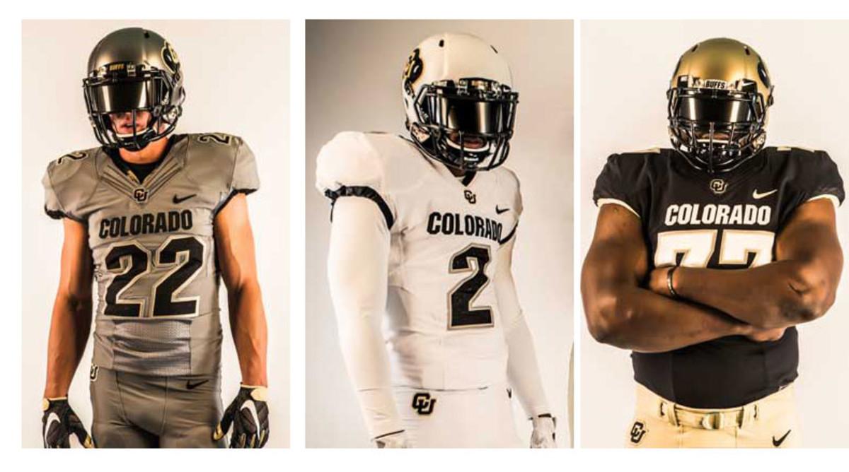 Colorado Buffaloes new uniforms 2015