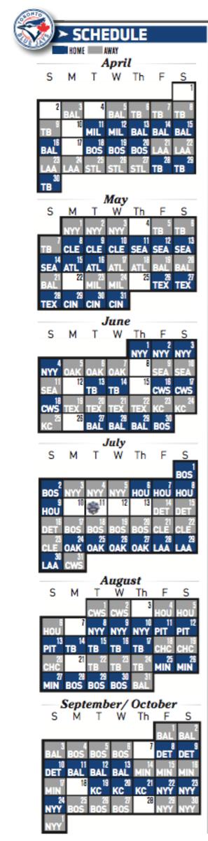 Toronto Blue Jays 2017 schedule
