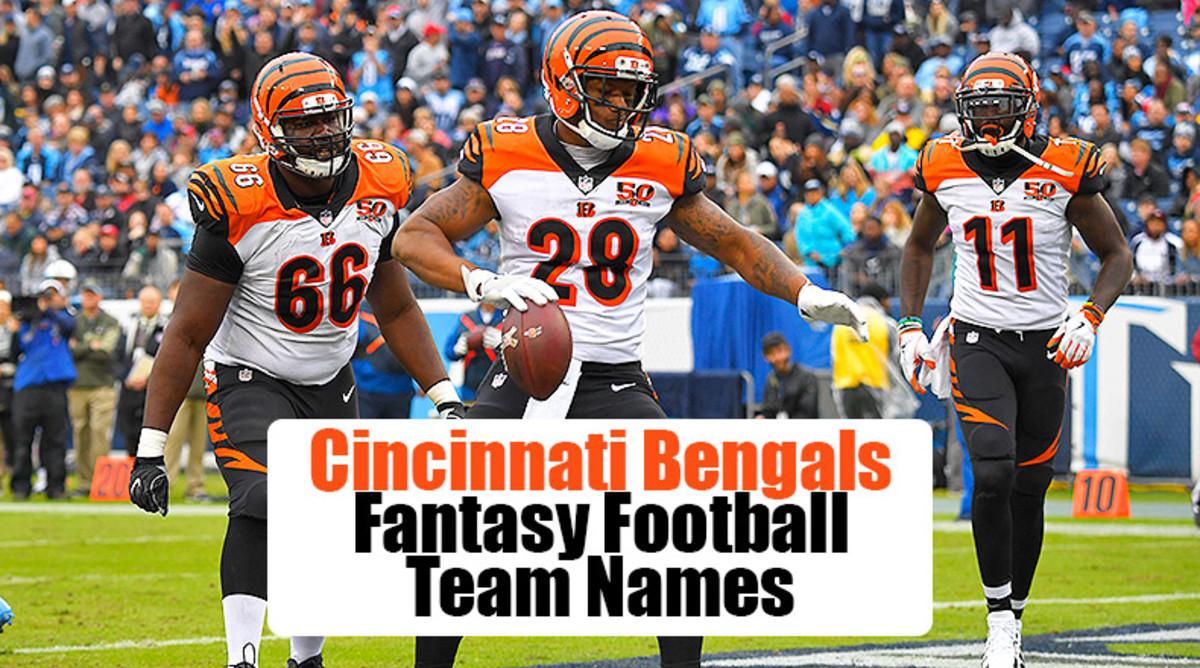 Cincinnati Bengals Fantasy Football Team Names