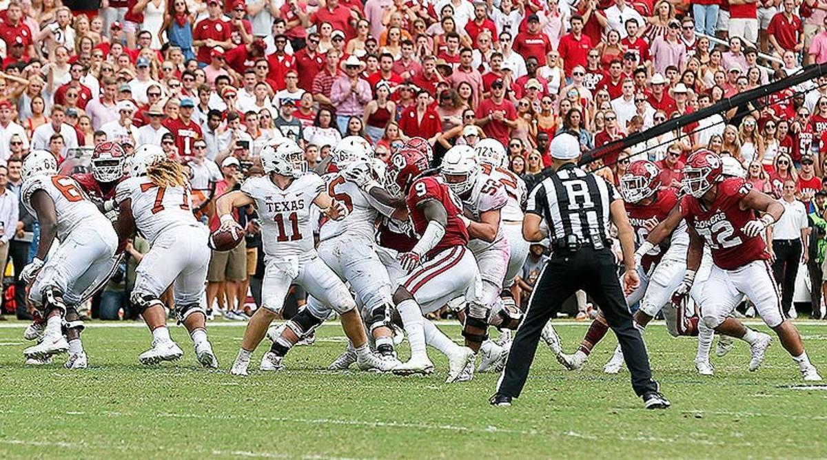 Texas Longhorns Oklahoma Sooners College Football