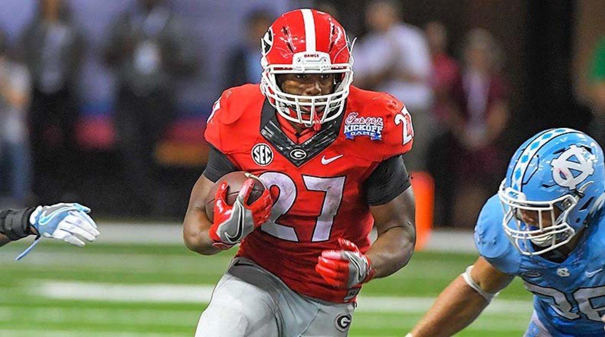 College Football Top 25: Nick Chubb, Georgia Bulldogs Football