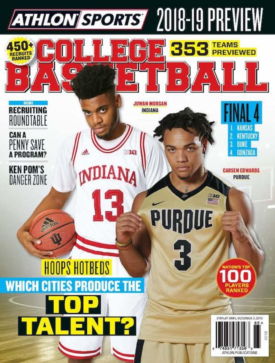 Indiana Basketball Magazine cover
