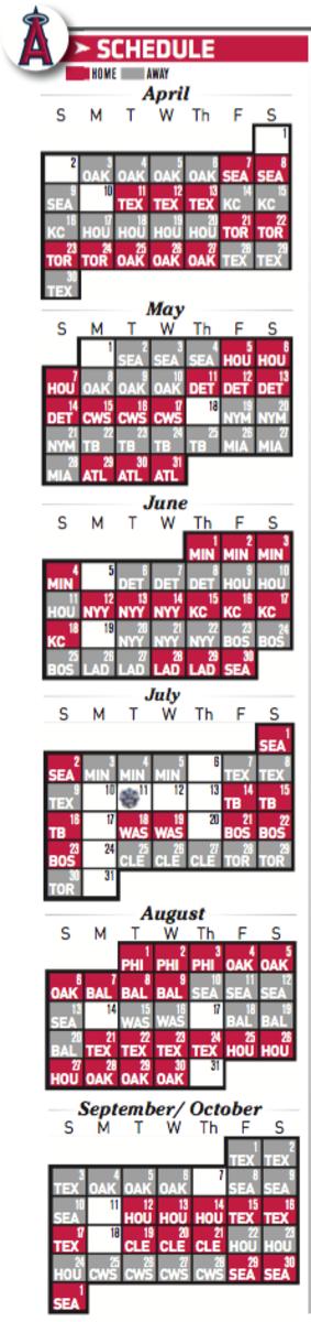 Printable Los Angeles Angels 2017 Schedule
