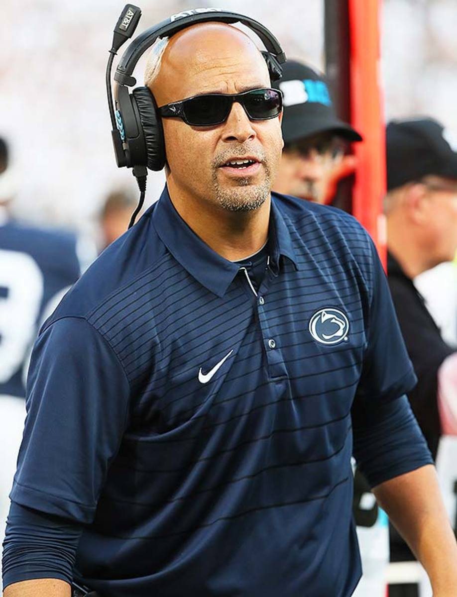 Penn State Nittany Lions head coach James Franklin