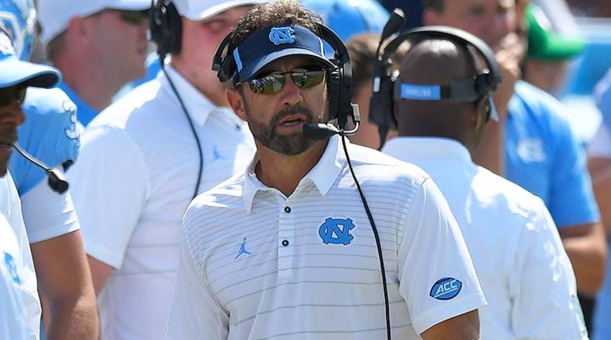 North Carolina Tar Heels head coach Larry Fedora