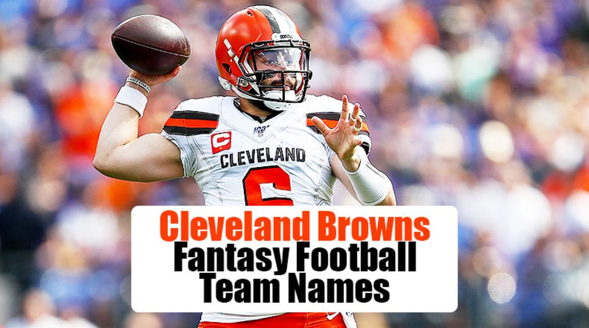 Cleveland Browns Fantasy Football Team Names