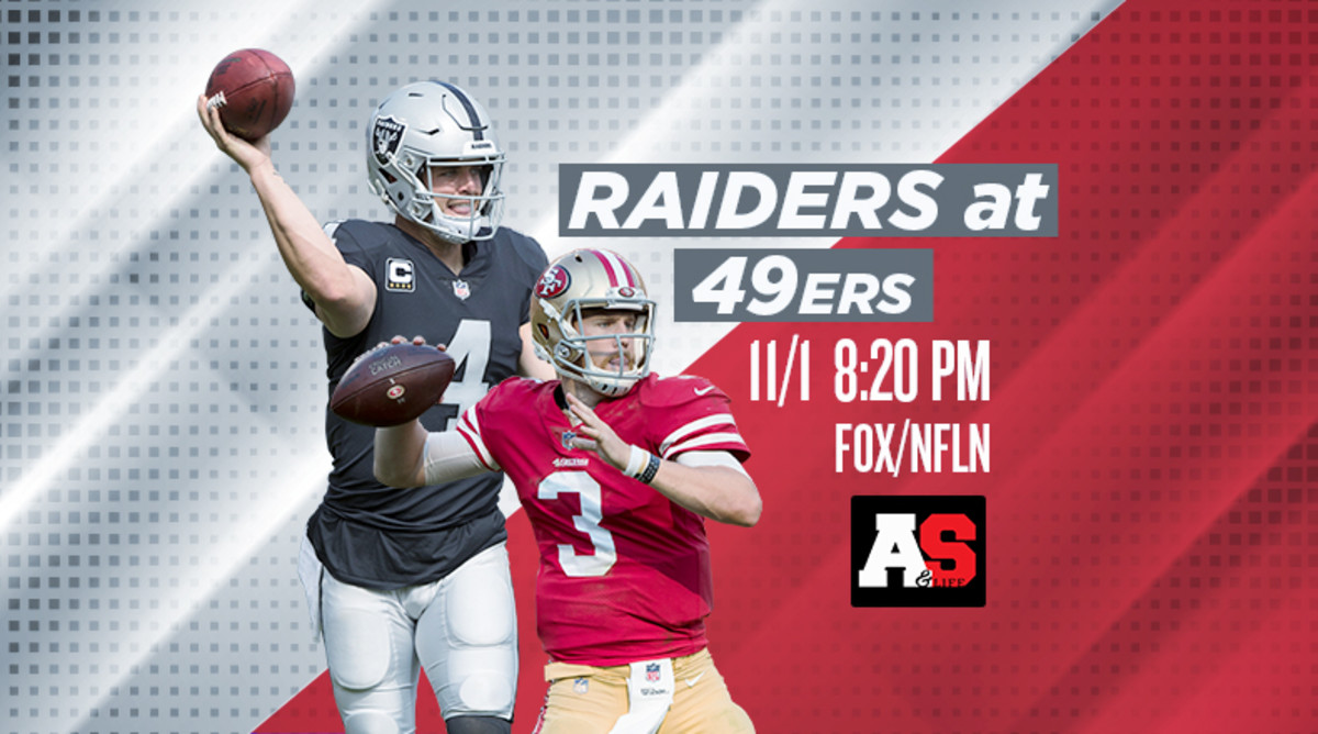 Thursday Night Football: Oakland Raiders vs. San Francisco 49ers Prediction and Preview