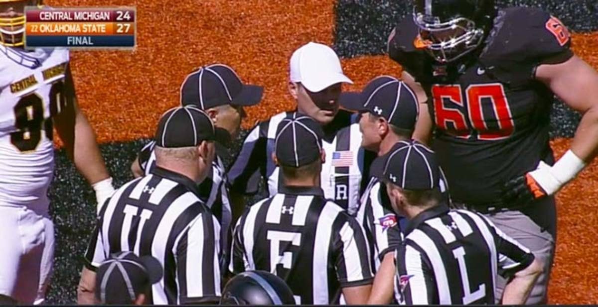 Central Michigan Chippewas vs. Oklahoma State Cowboys on Sept. 10, 2016