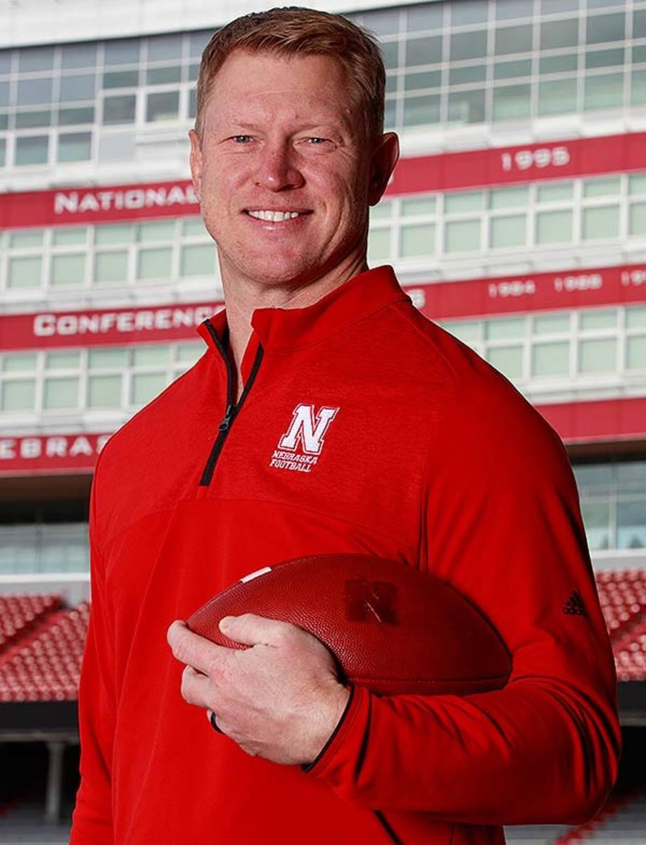 Nebraska Cornhuskers head coach Scott Frost