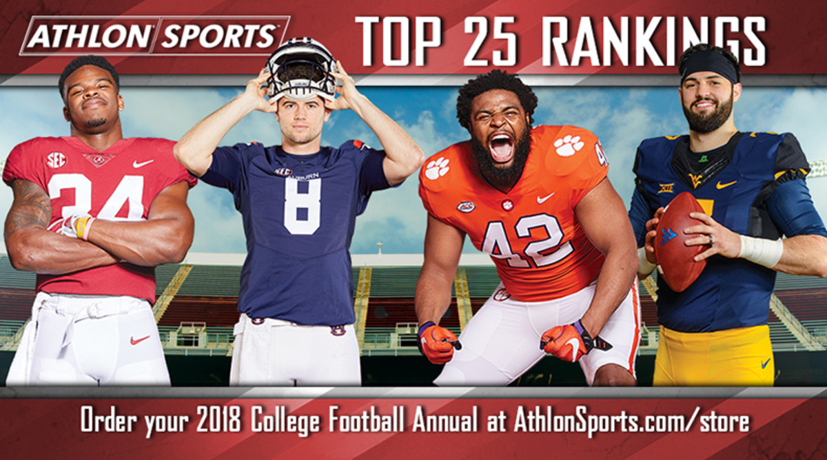 College Football Top 25 for 2018
