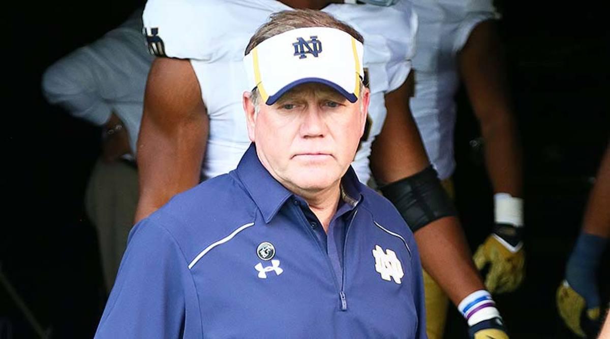 Notre Dame Fighting Irish head coach Brian Kelly