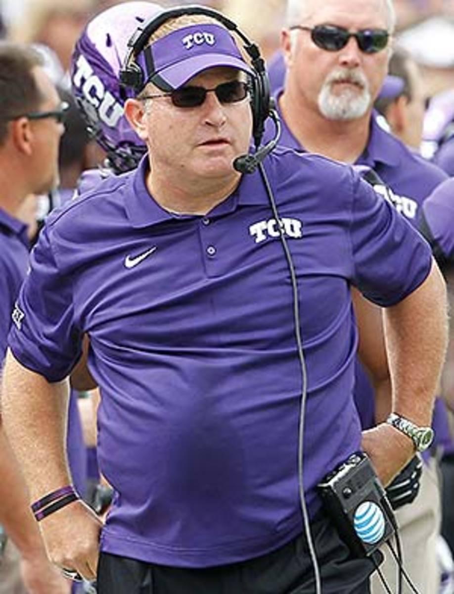 TCU Horned Frogs head coach Gary Patterson