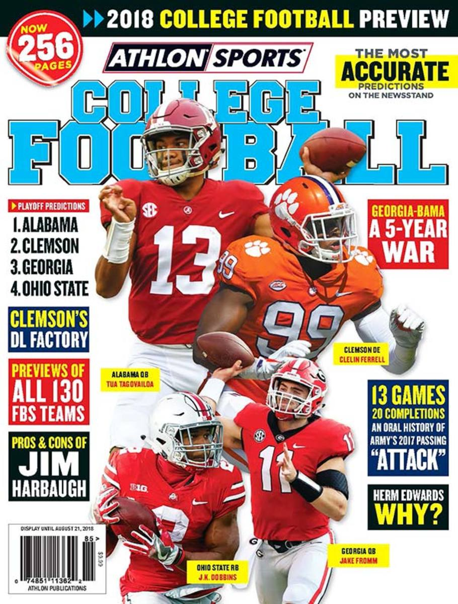 2018 Athlon Sports College Football Preview Magazine