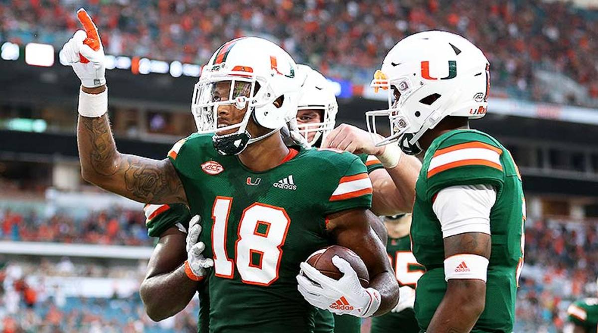 Miami Hurricanes WR Lawrence Cager