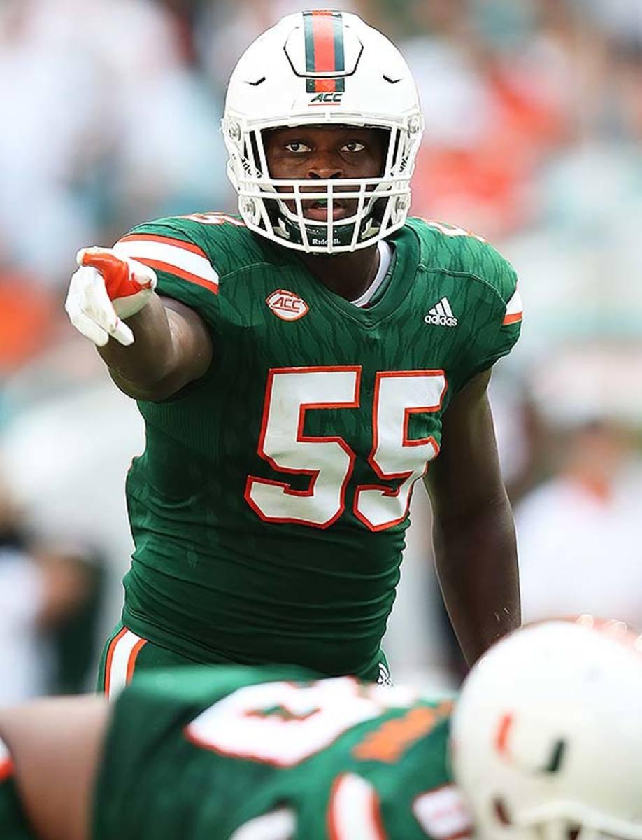 Miami Hurricanes LB Shaquille Quarterman