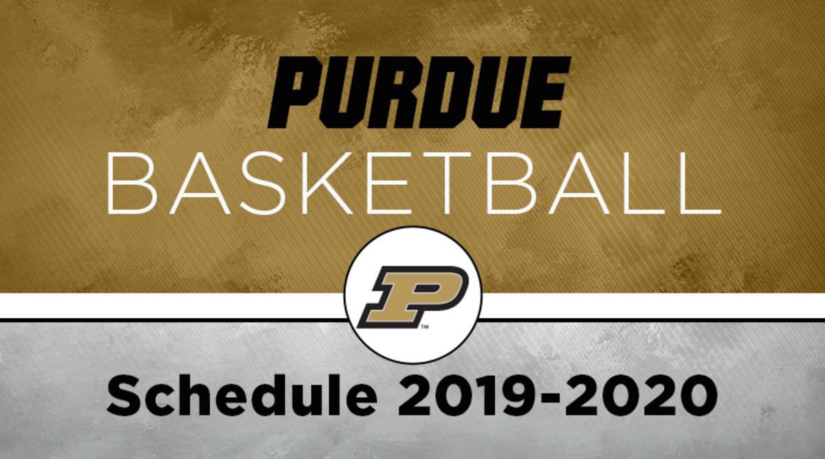 Purdue Basketball Schedule 2019-20