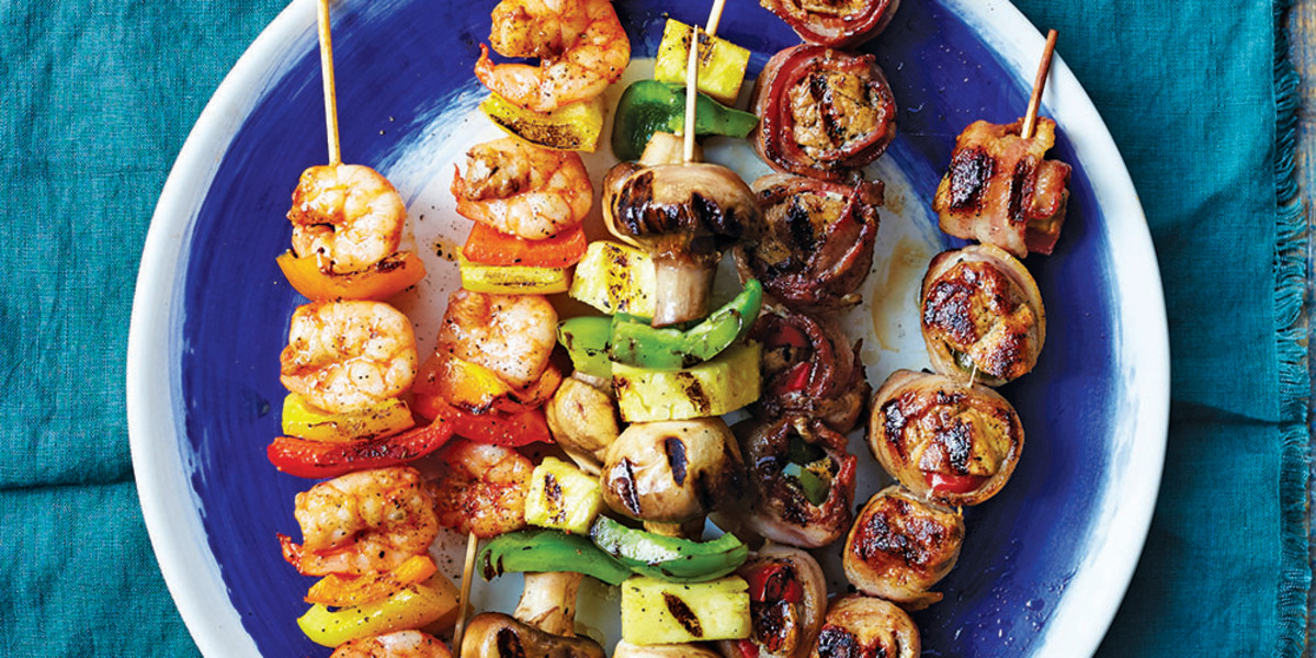 Bacon-Wrapped Chicken Skewers
