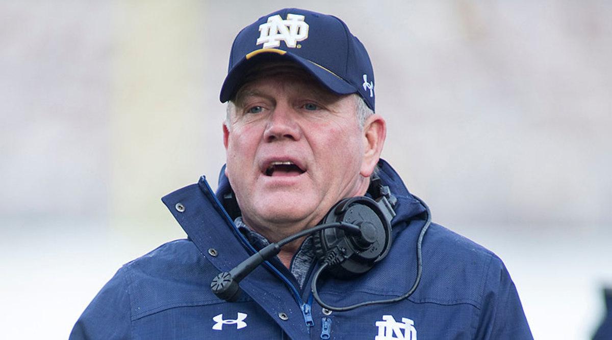 College Football Top 25: Brian Kelly, Notre Dame Fighting Irish Football