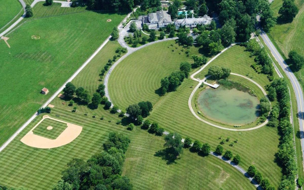 Cal Ripken Jr.'s house has a baseball field in the yard.