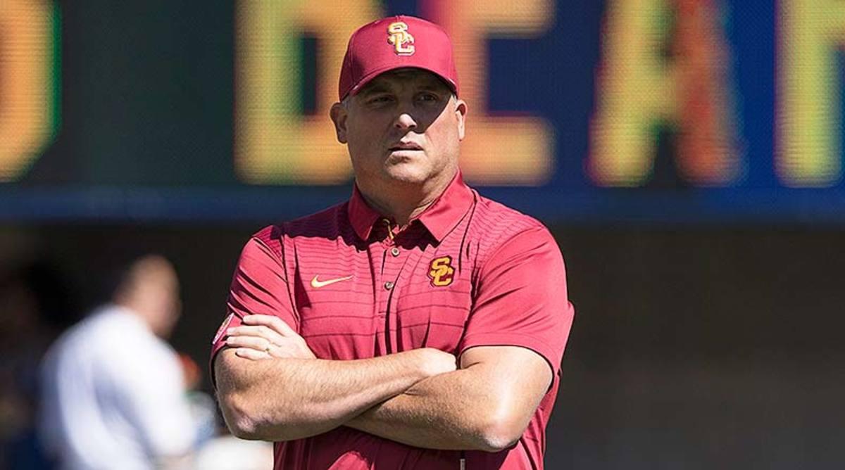 USC Trojans head coach Clay Helton