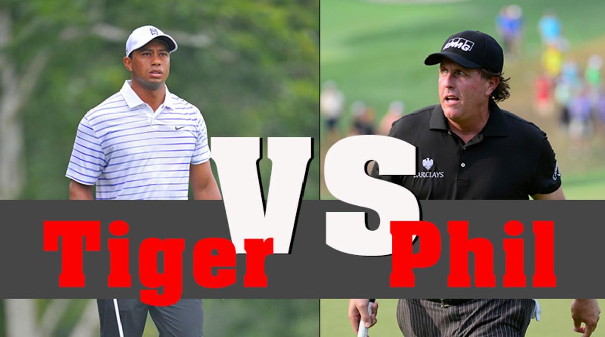 Tiger Woods versus Phil Mickelson