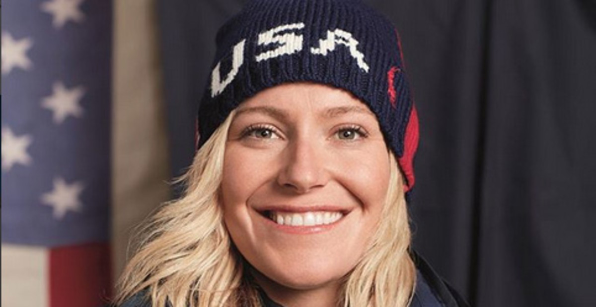 USA snowboarder Jamie Anderson