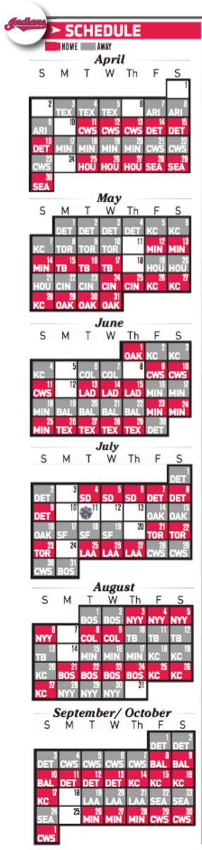 Cleveland Indians Schedule 2017