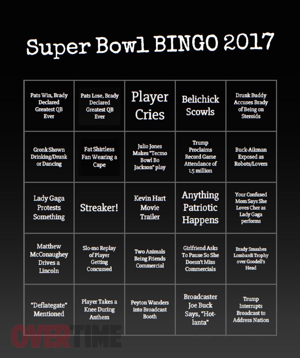 Super Bowl Bingo 2017, Super Bowl 51, LI
