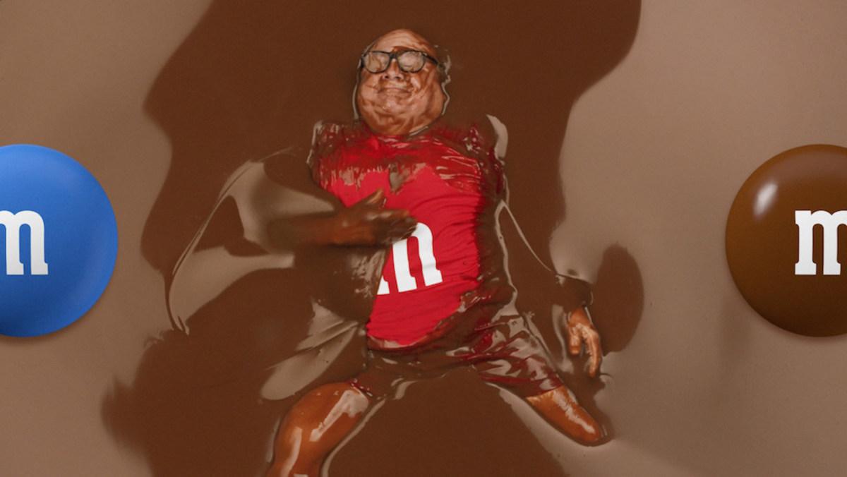 Danny Devito M&M Super Bowl commercial